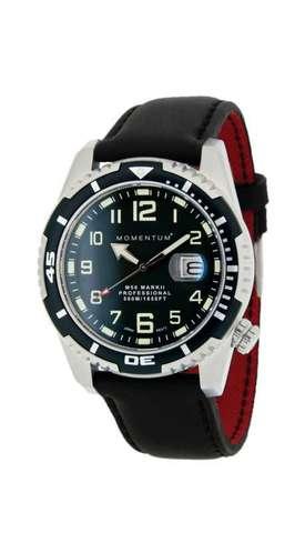 Купить Дайверские часы Momentum M50 Mark II (кожа, сапфир) по доступной цене