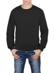 4054-4 футболка мужская дл. рукав, черная