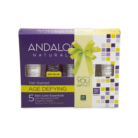 Комплексный антивозрастной уход - набор из 5 минипродуктов Andalou Naturals