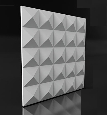 Декоративная гипсовая  3D панель  ПИРАМИДА