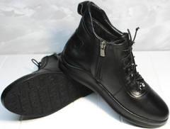 Купить высокие кеды женские Evromoda 375-1019 SA Black