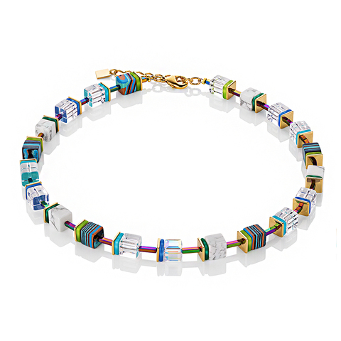 Колье Coeur de Lion 4798/10-0705 цвет мультиколор, прозрачный, полосатый