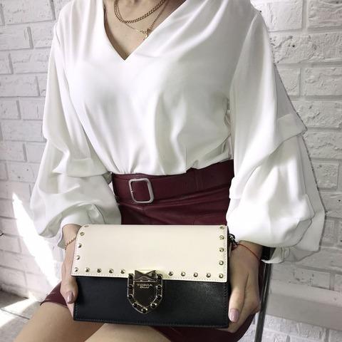 Кожаная сумка Tosca Blu Pollock Ivory, черный, Italy, фото 8