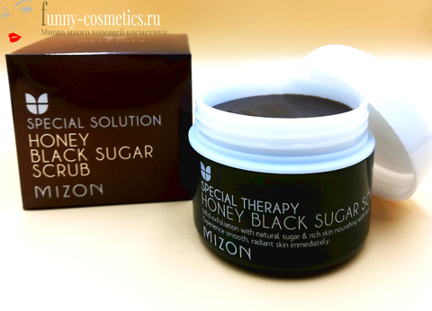 Скраб для лица с черным сахаром и медом Mizon Honey Black Sugar Scrub