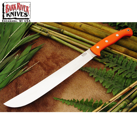 Нож Bark River Golok модель Upswept Blaze Orange G-10