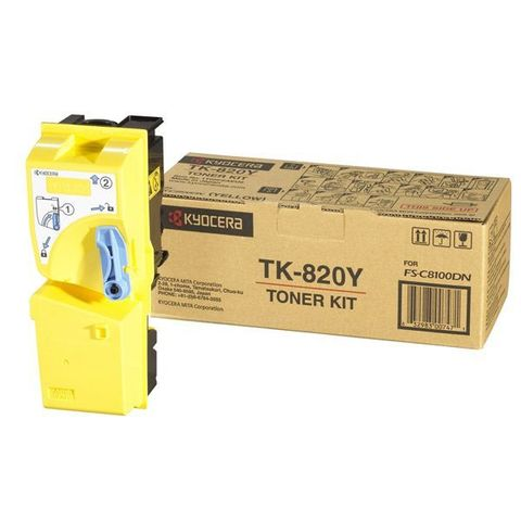 Тонер-картридж Kyocera Yellow TK-820Y для FS-C8100DN (15000 стр.)