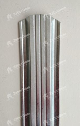 Евроштакетник металлический 115 мм цинк П - образный 0.5 мм