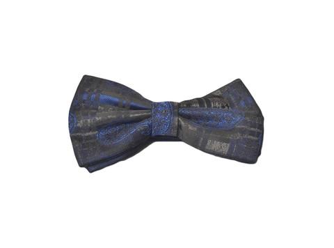 Галстук-бабочка Lorendi Capri черно-синяя 24