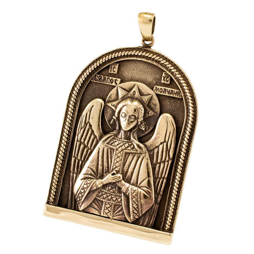 Православные украшения Икона Спас Благое Молчание кулон RH_00337.jpg