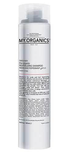 Органический укрепляющий шампунь против выпадения волос, My.Organics