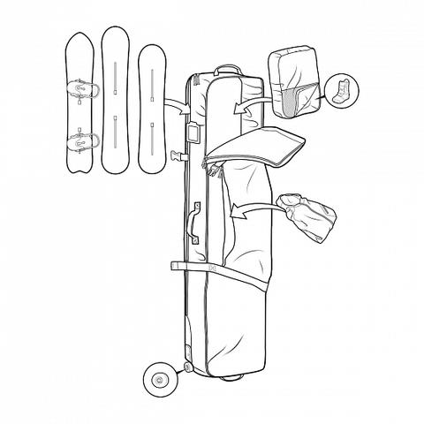 чехол для сноуборда Burton Wheelie Board Case