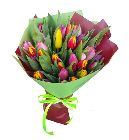Букет микс из 35 тюльпанов 4