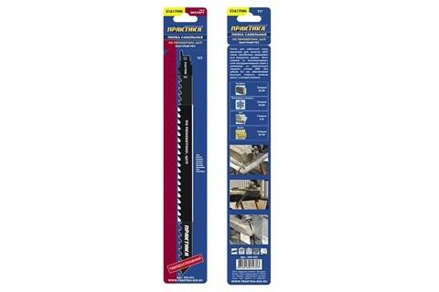 Пилки для лезвийной пилы ПРАКТИКА твердосплавные S1617HM по дереву, замороженным продуктам, 305 мм, шаг зубов 8,5 мм, 1 шт
