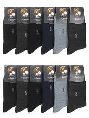 2502 носки мужские, цветные 41-47 (12шт)