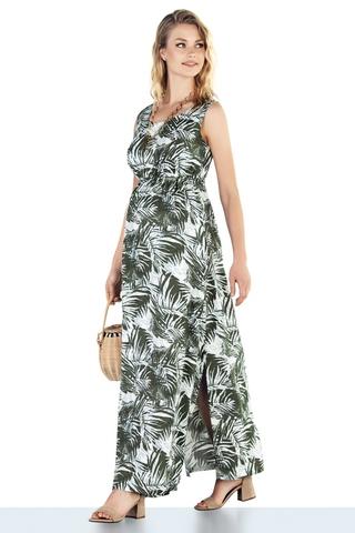 Платье для беременных 10226 зеленый