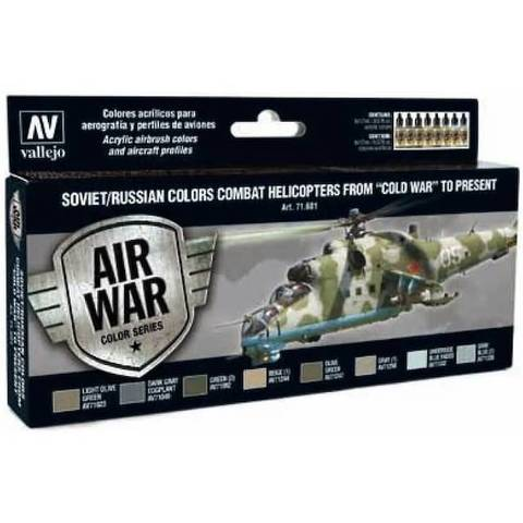 Model Air Set: Soviet/Russian Af Combat Helicopters (8) 17 ml.