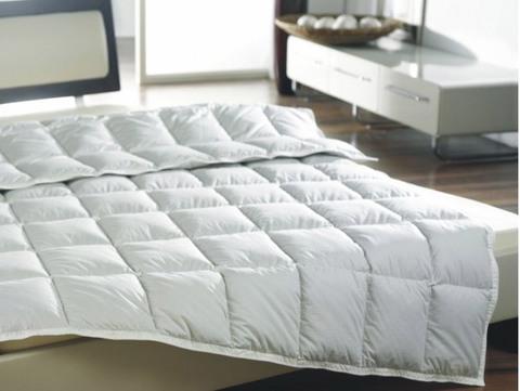 Одеяло пуховое очень легкое 200х200 Kauffmann Пух Гаги в хлопке
