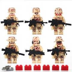 Минифигурки Военных SWAT Война в пустыне серия 121