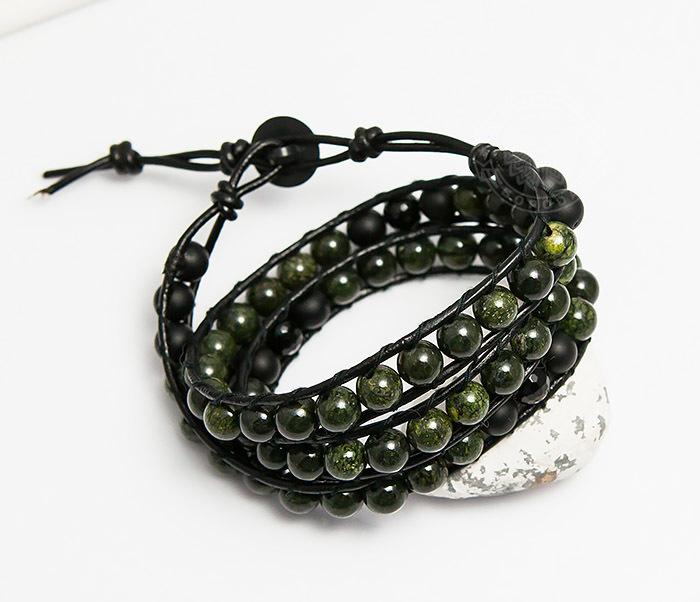 Boroda Design, Мужской браслет Chan Luu из змеевика, ручная работа все цены