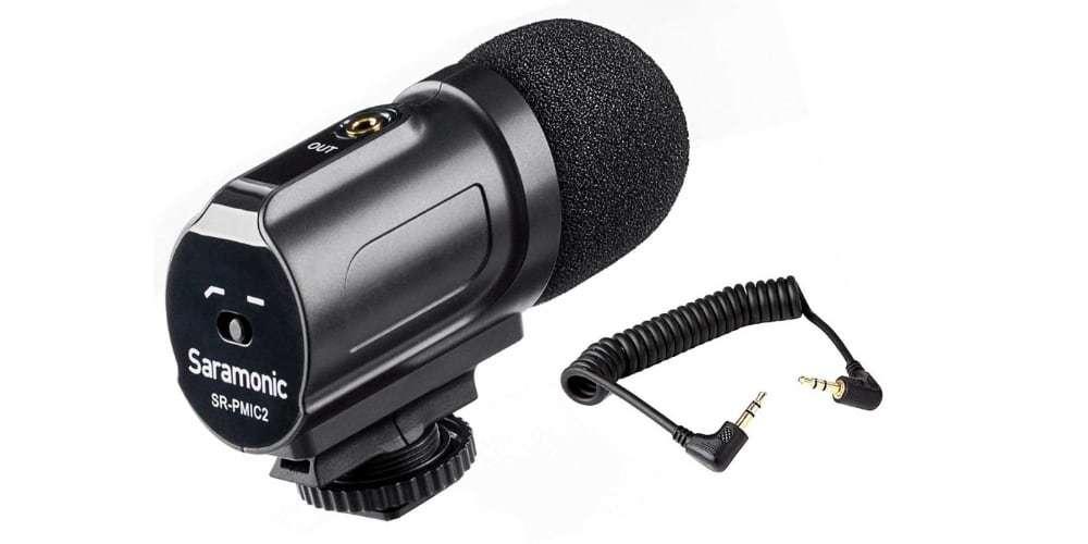 Стерео микрофон-пушка Saramonic SR-PMIC2 вид сзади