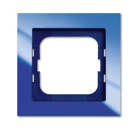 Рамка на 1 пост. Цвет Синий глянцевый. ABB(АББ). Axcent(Акcент). 1754-0-4343