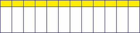 Маркировочная таблица на 12 модулей TDM