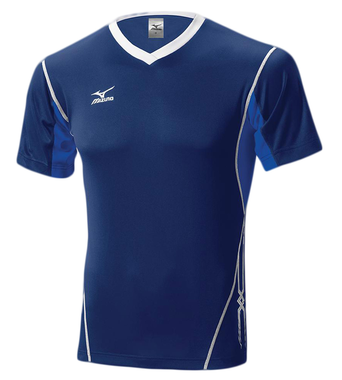 Мужская волейбольная футболка Mizuno Premium Top (V2EA4501M 14) т.синяя