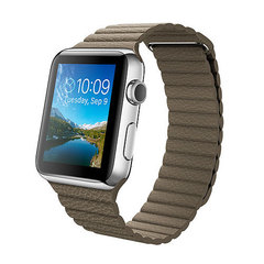 Часы Apple Watch 42мм (светло-коричневый кожаный с магнитной застежкой)