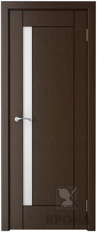 Дверь Крона Гранада, стекло матовое с рисунком, цвет венге, остекленная