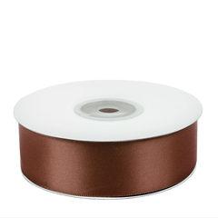 Лента атласная (коричневый) 25мм*25м