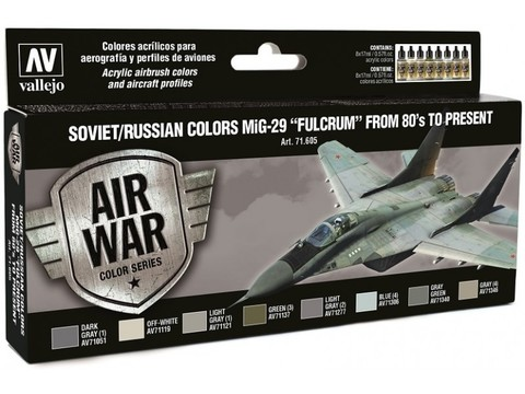 Model Air Set: Soviet/Russian Af Mig-29 Fulcrum (8) 17 ml.