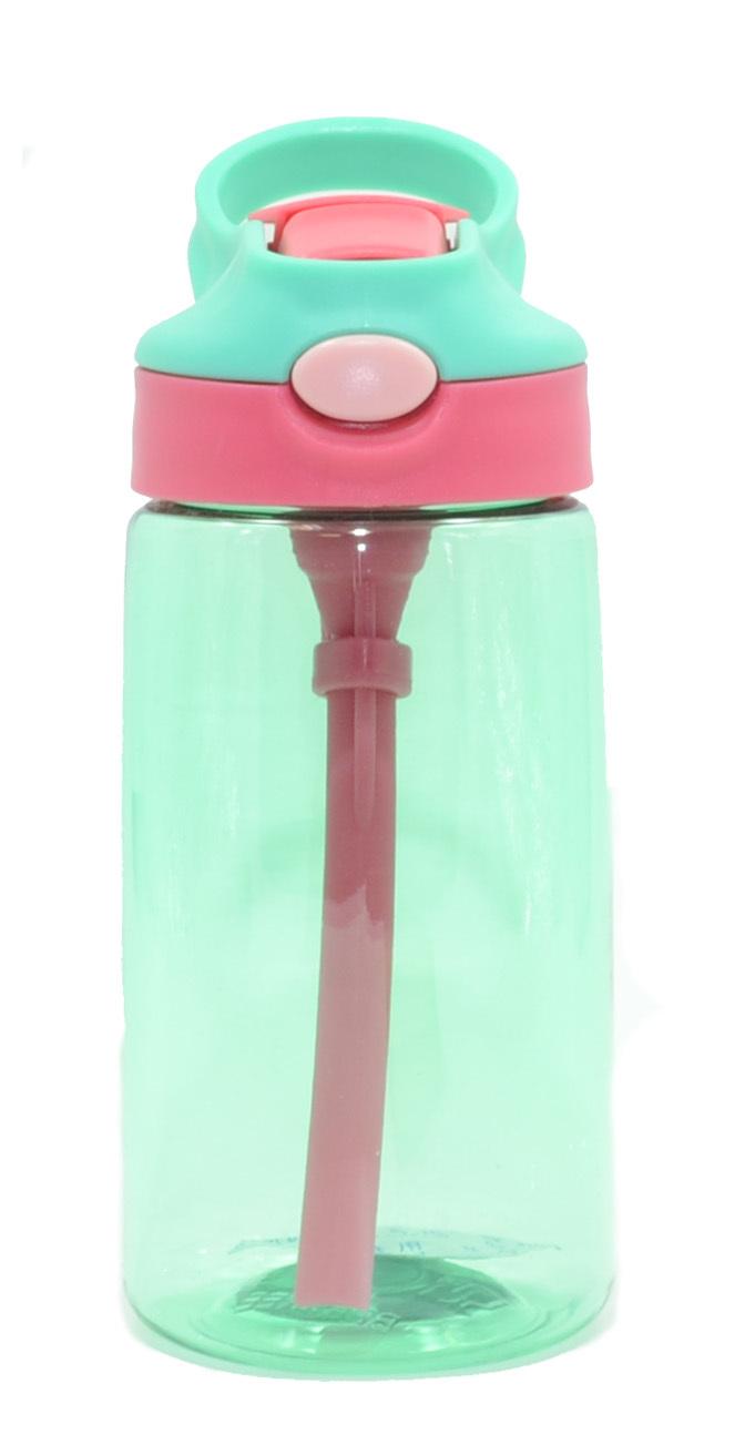 Бутылка для воды Muggs Flip Straw с трубочкой 400 мл. бирюзовая