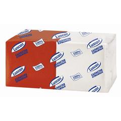Салфетки Luscan Profi Pack микс 1сл.24х24 белые/красные 250шт./уп..