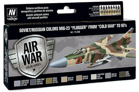 Model Air Set: Soviet/Russian Af Mig-23 Flogger (8) 17 ml.