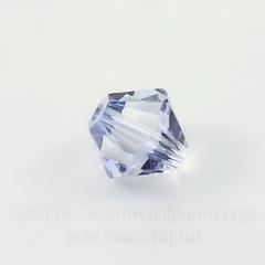 5328 Бусина - биконус Сваровски Crystal Blue Shade 3 мм, 10 штук