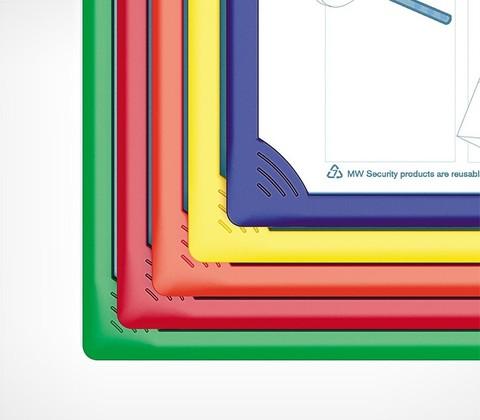 Рамка для перекидной системы INFOFRAME A4, желтый
