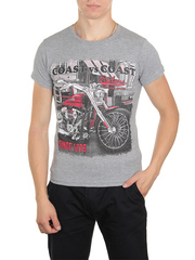 18666-6 футболка мужская, серый меланж