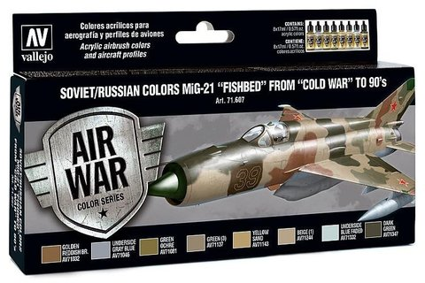 Model Air Set: Soviet/Russian Af Mig-21 Fishbed (8) 17 ml.