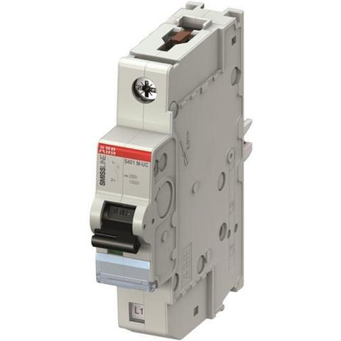 Автоматический выключатель 1-полюсный 0,5 А, тип C, 50 кА S401M-UC C0.5. ABB. 2CCS561001R1984