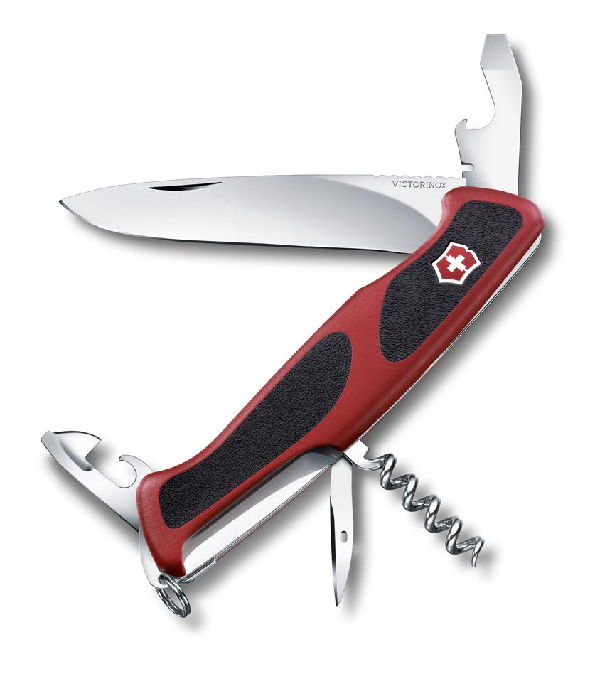 Нож Victorinox RangerGrip 68, 130 мм, 11 функций, красный с черным*