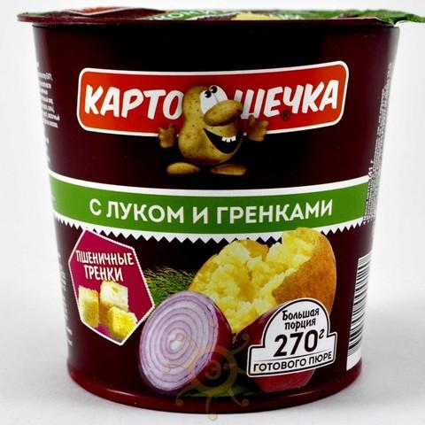 Картофельное пюре с луком и гренками Картошечка, 41г