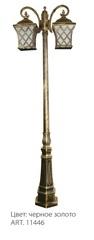 Светильник садово-парковый, 2*60W 230V E27 IP44 черное золото, PL4068 (Feron)