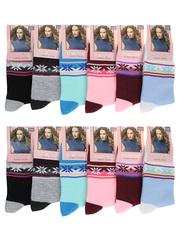A02 носки женские 37-42 (12шт.), цветные