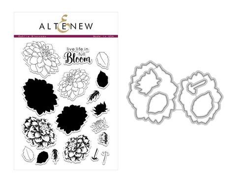 Набор штампов и НОЖЕЙ   Dahlia Blossoms Stamp & Die Bundle