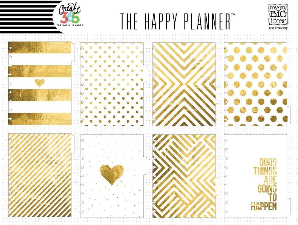 Разделительные страницы   Create 365 Planner Dividers - Gold -8шт.