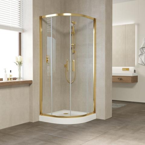 Душевой уголок Vegas Glass ZS профиль золото, стекло прозрачное