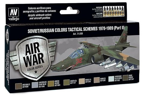 Model Air Set: Soviet/Russian Af Scheme Tactical (Part 2) 1978-1989 (8) 17 ml.