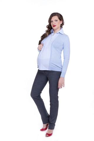 Блузка для беременных 01949 синий