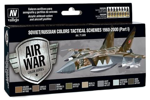 Model Air Set: Soviet/Russian Af Scheme Tactical (Part 1) 1960-2000 (8) 17 ml.