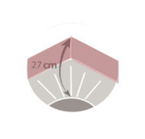 Наматрасник на резинке Blanc des Vosges 180х200